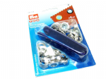 Eyelets with Washers : Prym 541374- Silver - 8mm - 24 sets